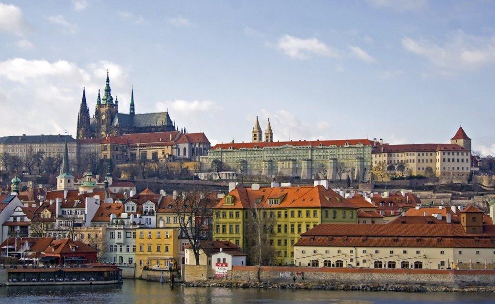 Vltava and in the background Prague Castle